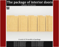 package classic interior doors 3d max