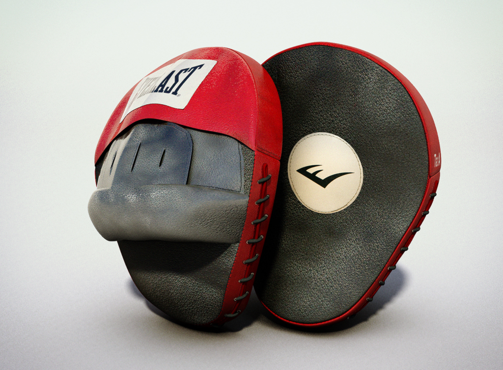 3d model boxing punch mitts
