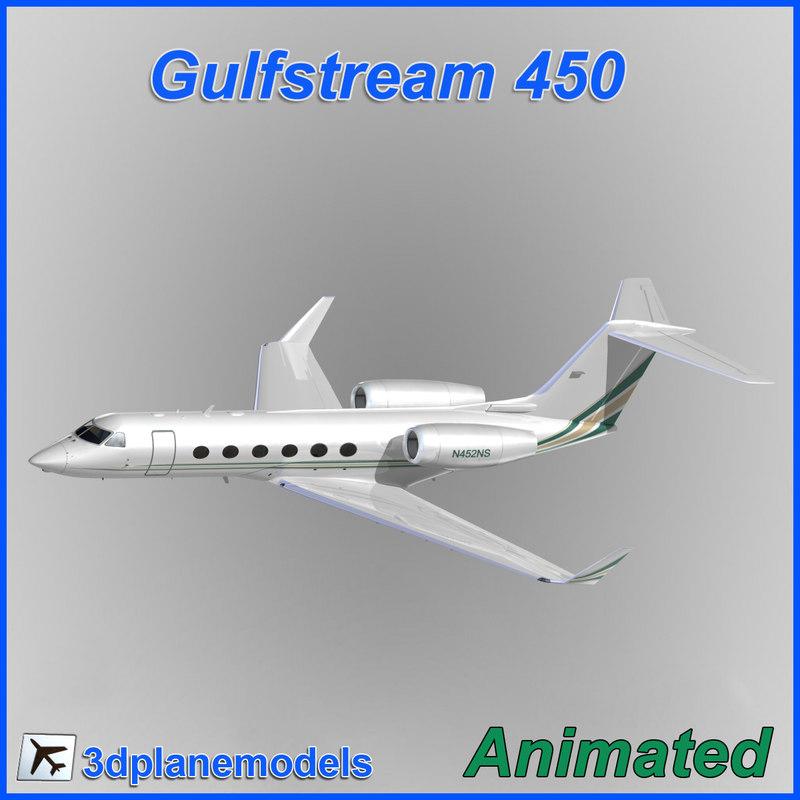 gulfstream g450 3d model