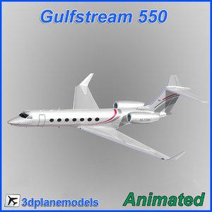 gulfstream g550 3d model