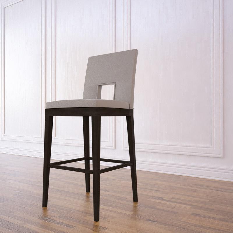 3ds max velin bar stool