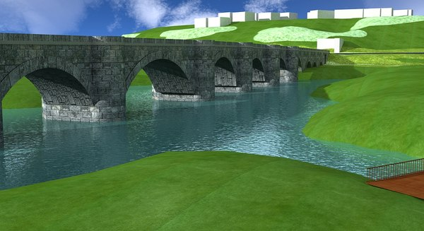 justinianus bridge 3d model