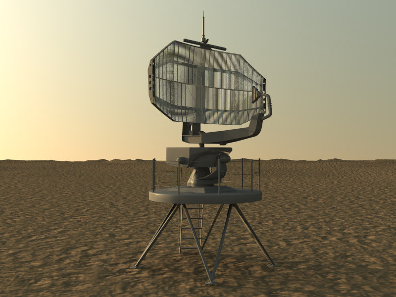 long range radar 3d max