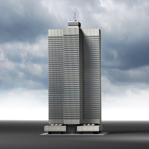 3d model montreal skyscraper place ville-marie