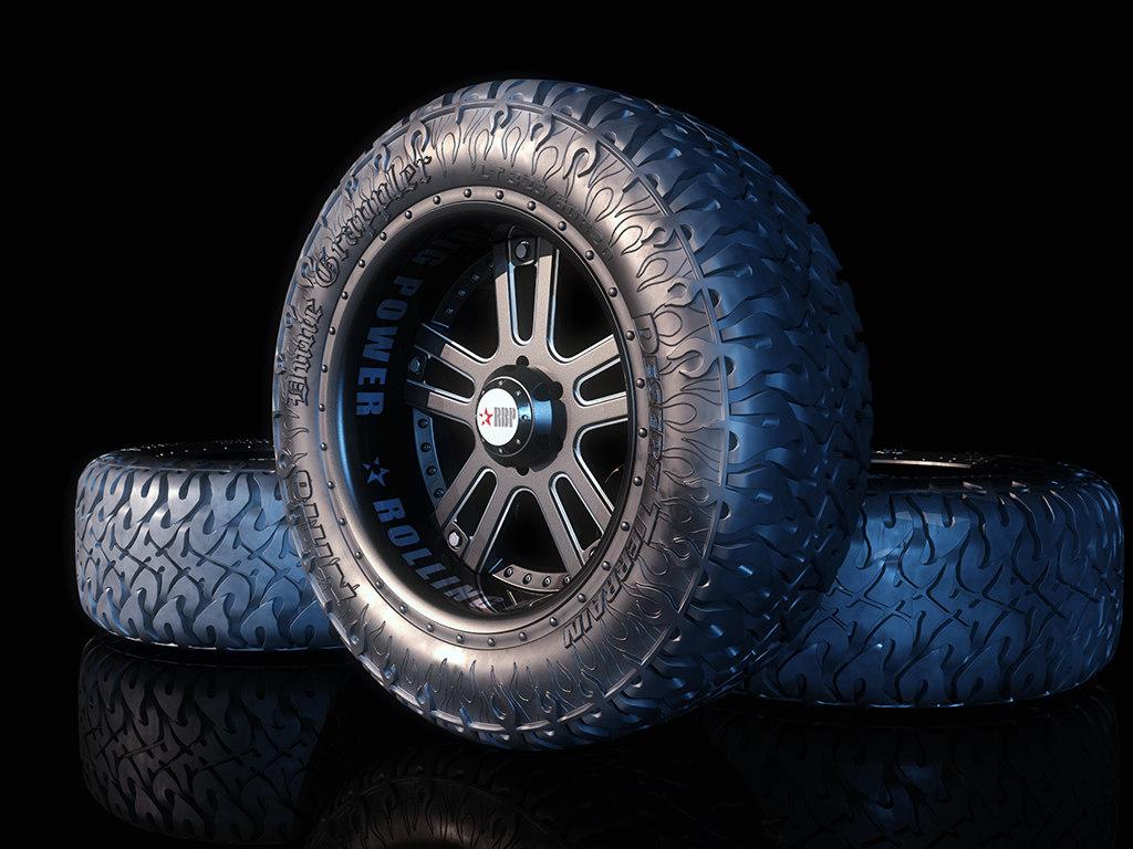 3d offroad wheel