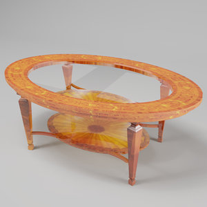 polished coffee table 3d 3ds