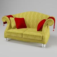 3d model love sofa