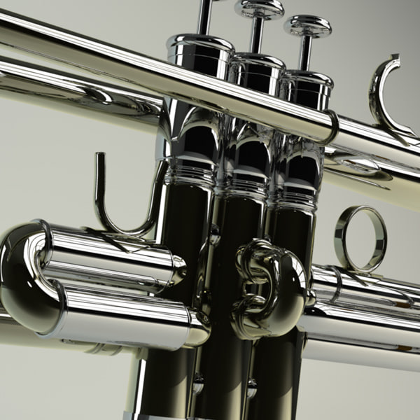 3d trumpet pop brass