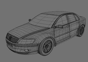 volkswagen phaeton 3d model