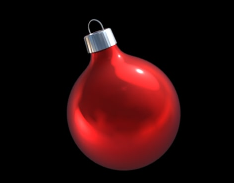 christmas tree ornament 3d model