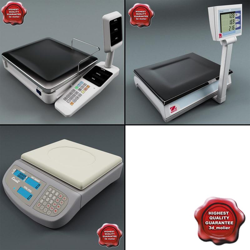 3d supermarket scales model