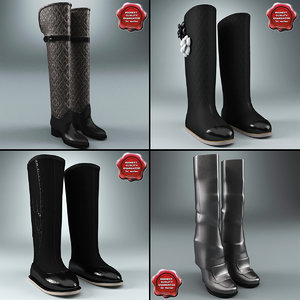 3d model winter shoes v2