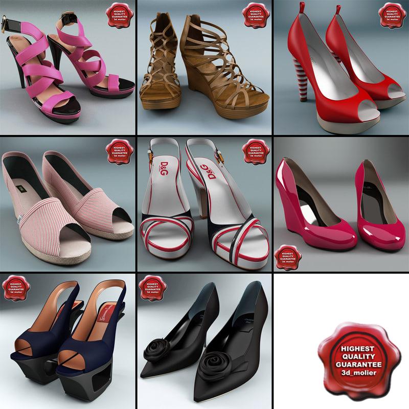 d9c50bbe578 Women  S Shoes 3D Models for Download