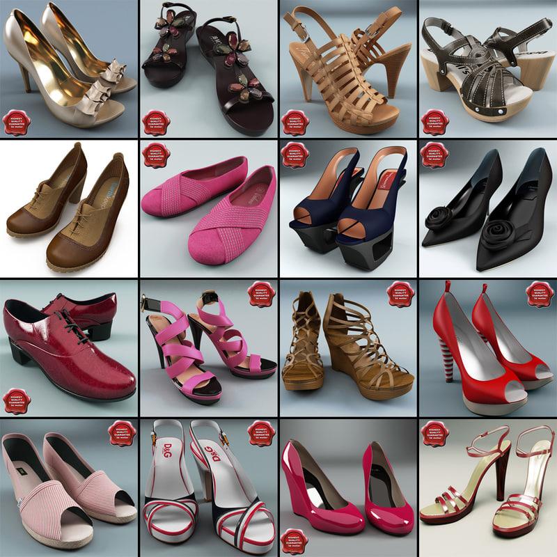 women shoe v7 3d model