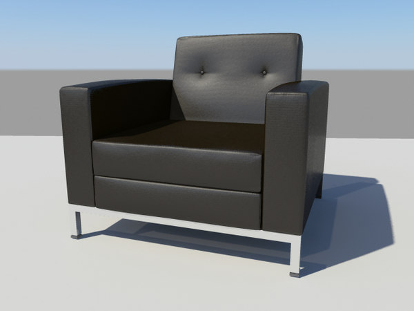3d chair leather office