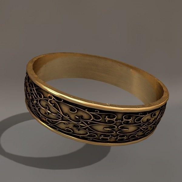 c4d gold wedding ring