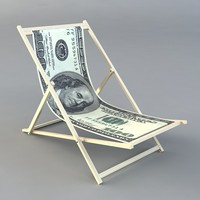 low-poly dollar chair fbx