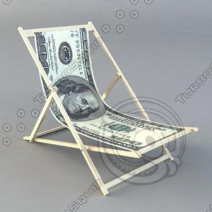 low-poly dollar chair fbx