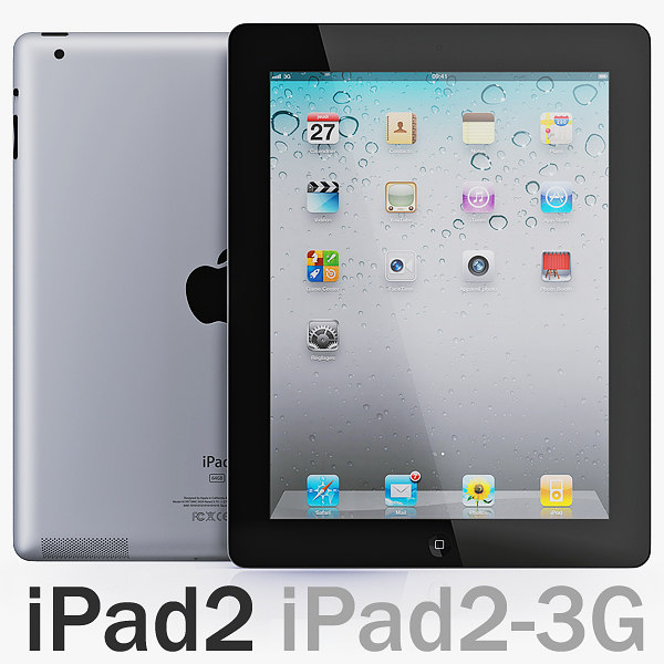 ipad 2 wi-fi 3g 3d model