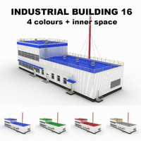 medium industrial building 16 3ds