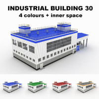 3d model medium industrial building 30