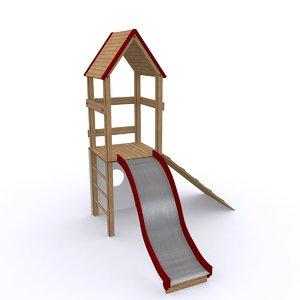 maya playground slide play