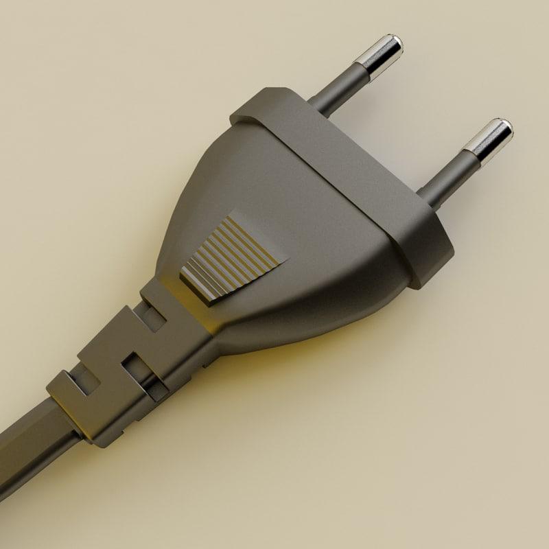 european power plug 3d model