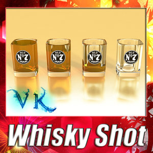 3d max whisky shot glass