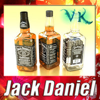 3d photorealistic liquor bottle jack daniels