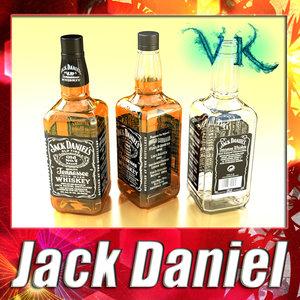 3d photorealistic liquor bottle jack daniels