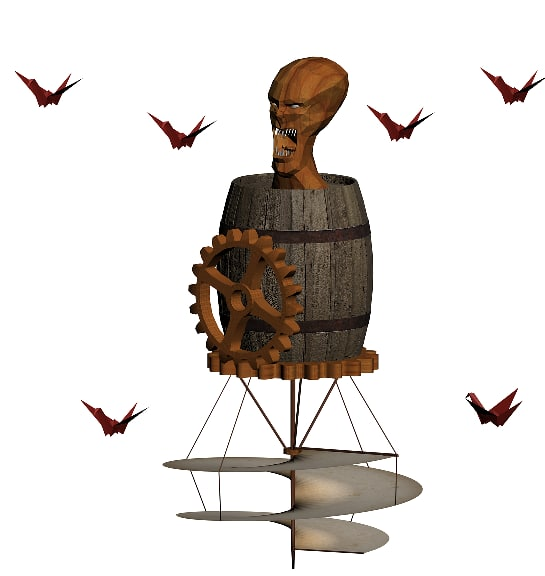 3d model wooden demon