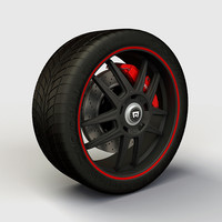 Wheel Montegi MR117 rim and tire