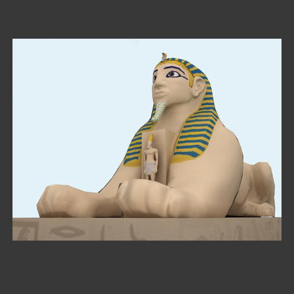 sphinx lion 3d 3ds