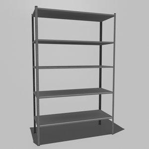 3dsmax steel shelving