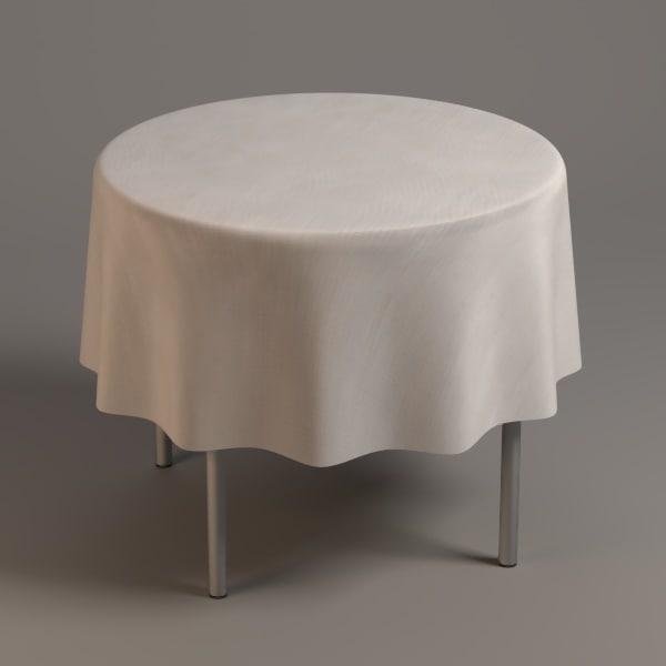 table tableclothes 3d model