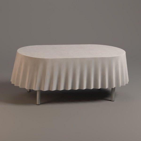 oval table 3d obj