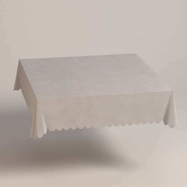 3d model square tablecloth