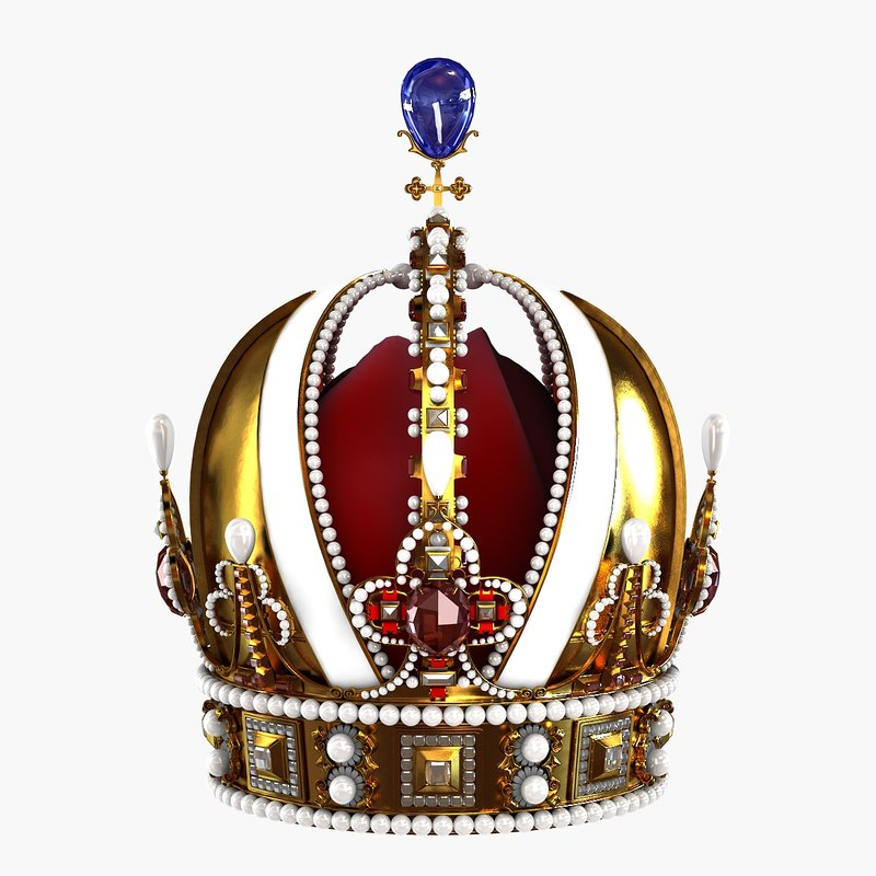 3d model realistic royal crown