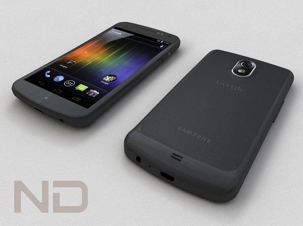 samsung galaxy nexus smartphone 3d model