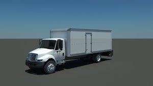 3d box truck international 4300 model