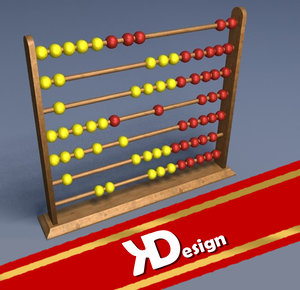 3d model wooden abakus