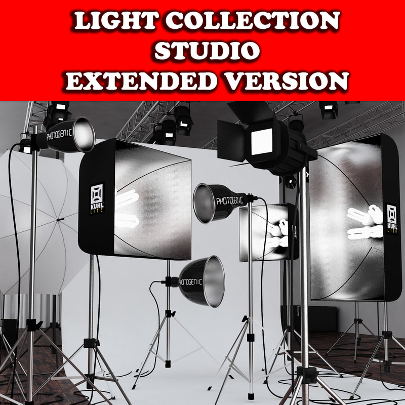 studio lights 3d model
