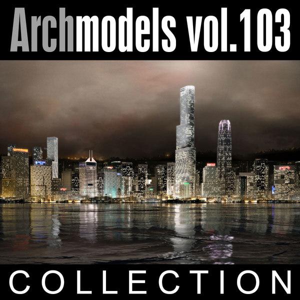 archmodels vol 103 skyscrapers 3d model
