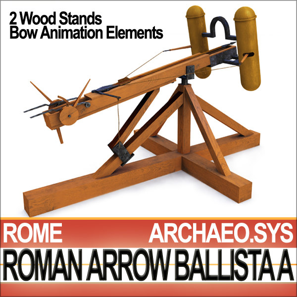 3d artillery arrow ballista model