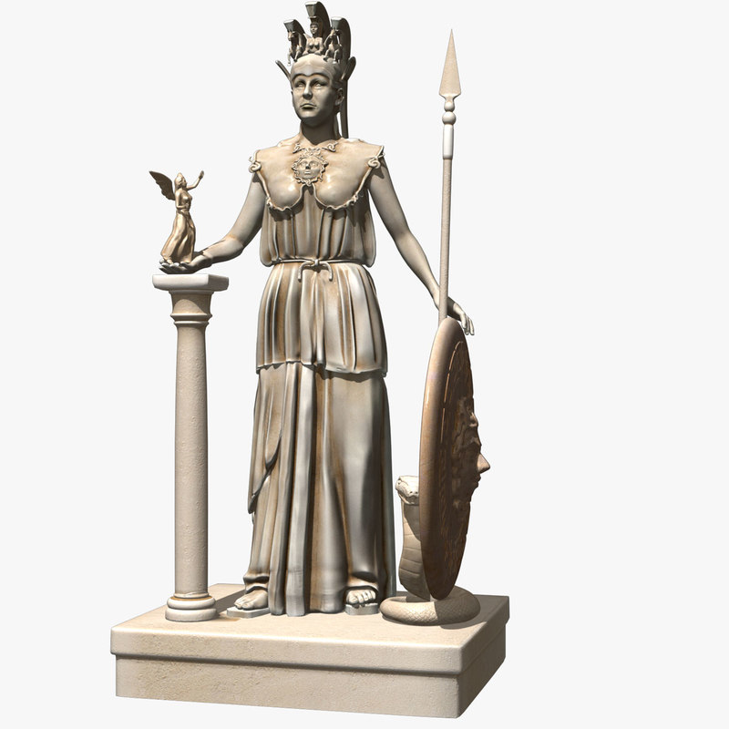 statue athena 3d obj