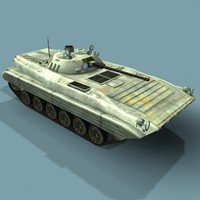 max low-poly bmp-2m russian infantry