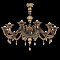 Barovier & Toso Fez 5602 Murano glass chandelier classic art deco modern(1)