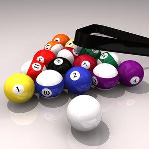 3ds max billiard balls