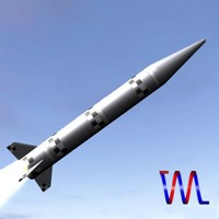 israeli black sparrow missile 3d 3ds