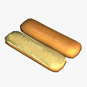 baked breads 3d max